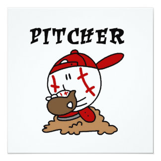 Funny Baseball Pitcher T-shirts and Gifts Invitation