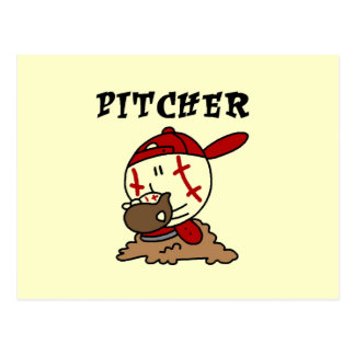 Funny Baseball Pitcher T-shirts and Gifts Postcard