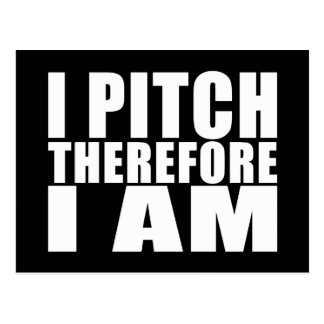 Funny Baseball Pitchers : I Pitch Therefore I Am Postcard