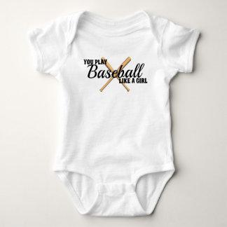 Funny Baseball Saying Baby Bodysuit