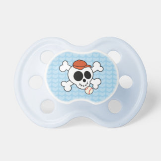 Funny Baseball Skull New Baby Boy Shower Gift Pacifiers