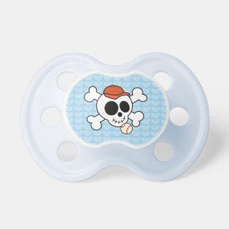 Funny Baseball Skull New Baby Boy Shower Gift Pacifier