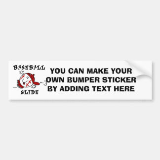 Funny Baseball Slide T-shirts and Gifts Car Bumper Sticker