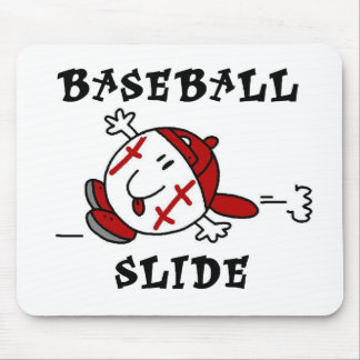 Funny Baseball Slide T-shirts and Gifts Mouse Pad