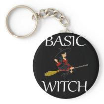 Funny Basic Halloween Witch Design Halloween Keychain