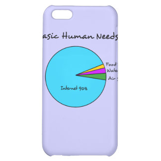 Funny Basic Human Needs 90 Internet iPhone 5C Cover