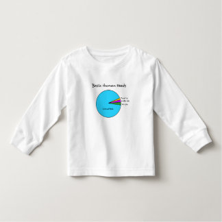 Funny Basic Human Needs for computer enthusiasts Toddler T-shirt