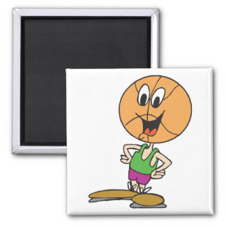funny basketball character magnet