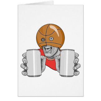 funny basketball fan fanatic greeting card
