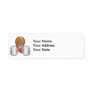 funny basketball fan fanatic return address label
