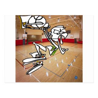FUNNY BASKETBALL IMPRESSION POSTCARD