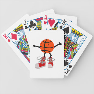 Funny Basketball in Red High Tops Cartoon Bicycle Playing Cards