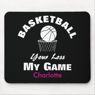 Funny Basketball Sports Saying Text Graphic Mouse Pad