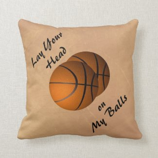 Funny Basketball Sports Throw Pillow