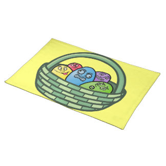 Funny Basketcase Easter Place Mats