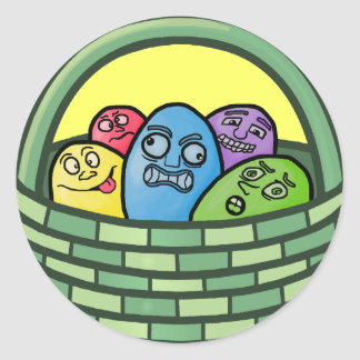 Funny Basketcase Easter Stickers