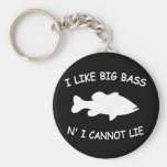 Funny Bass Fishing Basic Round Button Keychain