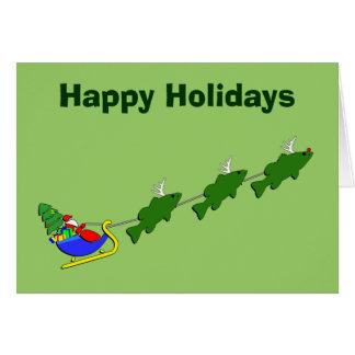 Funny Bass Fishing Christmas Card