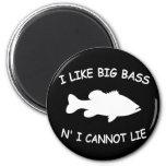 Funny Bass Fishing Fridge Magnet