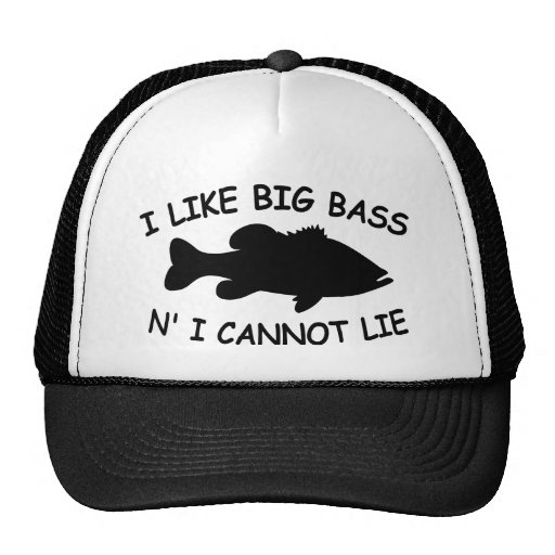 Funny bass fishing trucker hats for Bass fishing hats