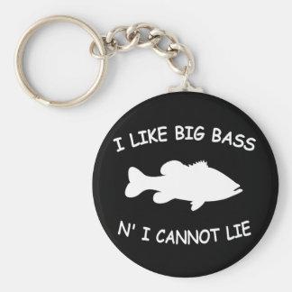 Funny Bass Fishing Keychain