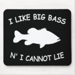 Funny Bass Fishing Mouse Pad