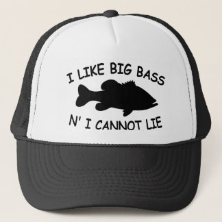 Funny Bass Fishing Trucker Hat