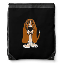 Funny Basset Hound Backpack