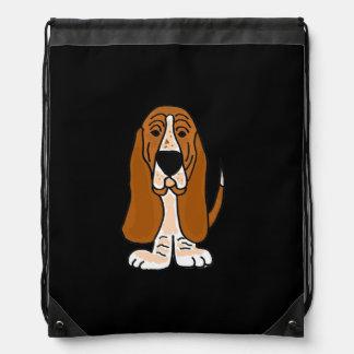Funny Basset Hound Backpack