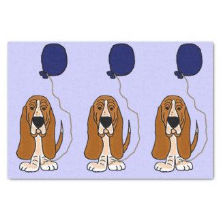"Funny Basset Hound Birthday Tissue Paper 10"" X 15"" Tissue Paper"