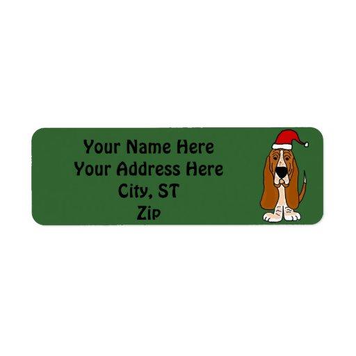 Funny Basset Hound Christmas Address...