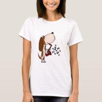 Funny Basset Hound Dog Playing Saxophone T-Shirt