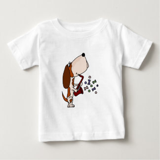 Funny Basset Hound Dog Playing Saxophone T Shirt