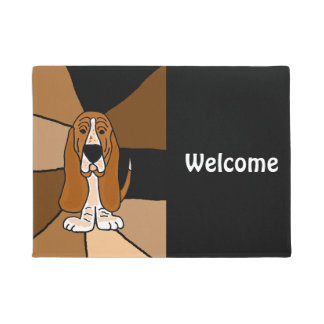 Funny Basset Hound Dog Welcome Doormat