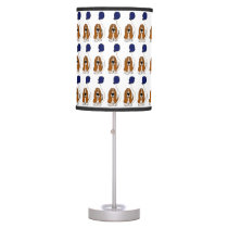 Funny Basset Hound Holding Balloon Table Lamp