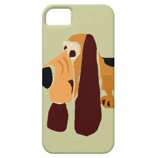 Funny Basset Hound Primitive Art iPhone 5 Cases