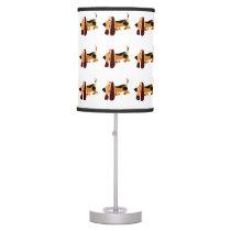 Funny Basset Hound Primitive Art Desk Lamp