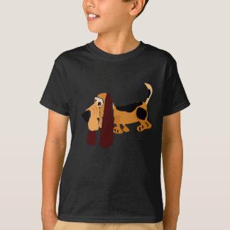 Funny Basset Hound Primitive Art T-Shirt