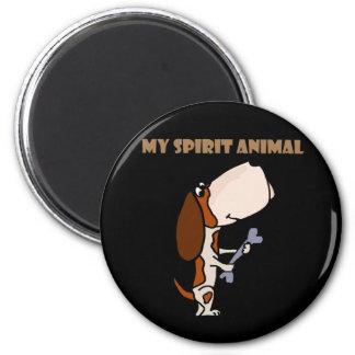 Funny Basset Hound Spirit Animal Magnet
