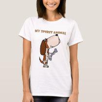 Funny Basset Hound Spirit Animal T-Shirt
