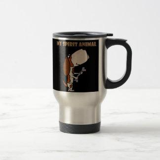 Funny Basset Hound Spirit Animal Travel Mug