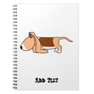Funny Bassett hound car argon personalized Spiral Note Books