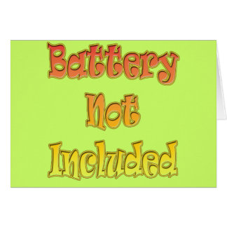 Funny Battery Not Included T-shirts Gifts Card