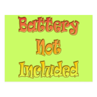 Funny Battery Not Included T-shirts Gifts Postcard