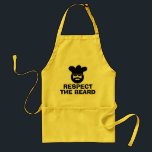 "Funny BBQ apron for men | Respect the beard<br><div class=""desc"">Funny BBQ apron for men 