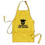 Funny BBQ apron for men | Respect the beard<br><div class='desc'>Funny BBQ apron for men | Respect the beard. Cool chef cook design with big beard,  kitchen hat and sunglasses. Cute barbeque Birthday gift idea for manly dad uncle grandpa etc. Customize it with your own humorous slogan,  quote or saying or personalize it with a name.</div>