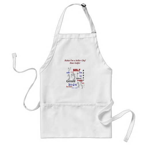 Funny BBQ Better Chef than Golfer Adult Apron