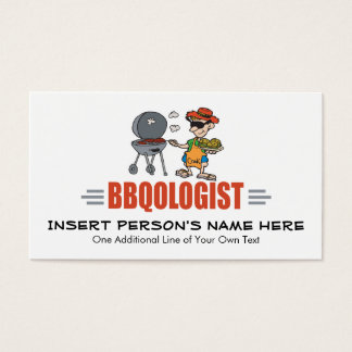 Funny BBQ Business Card