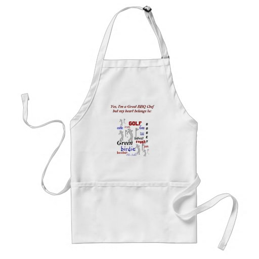Funny BBQ Chef for Golf Fan Aprons