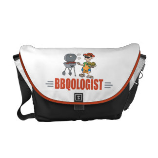 Funny BBQ Courier Bag